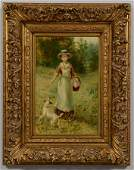 D.W. Haddon o/b, Lady and Dog