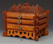 Large Tramp Art Sewing Box