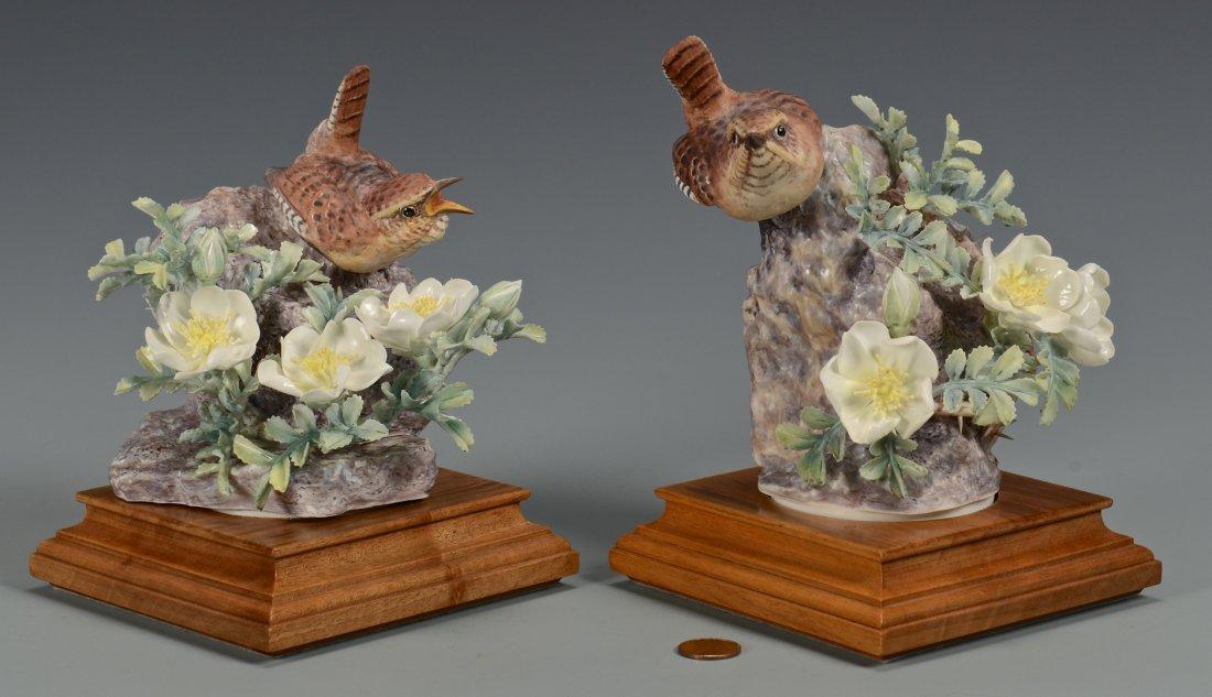 Pr Dorothy Doughty birds, Wren & Burnet Rose