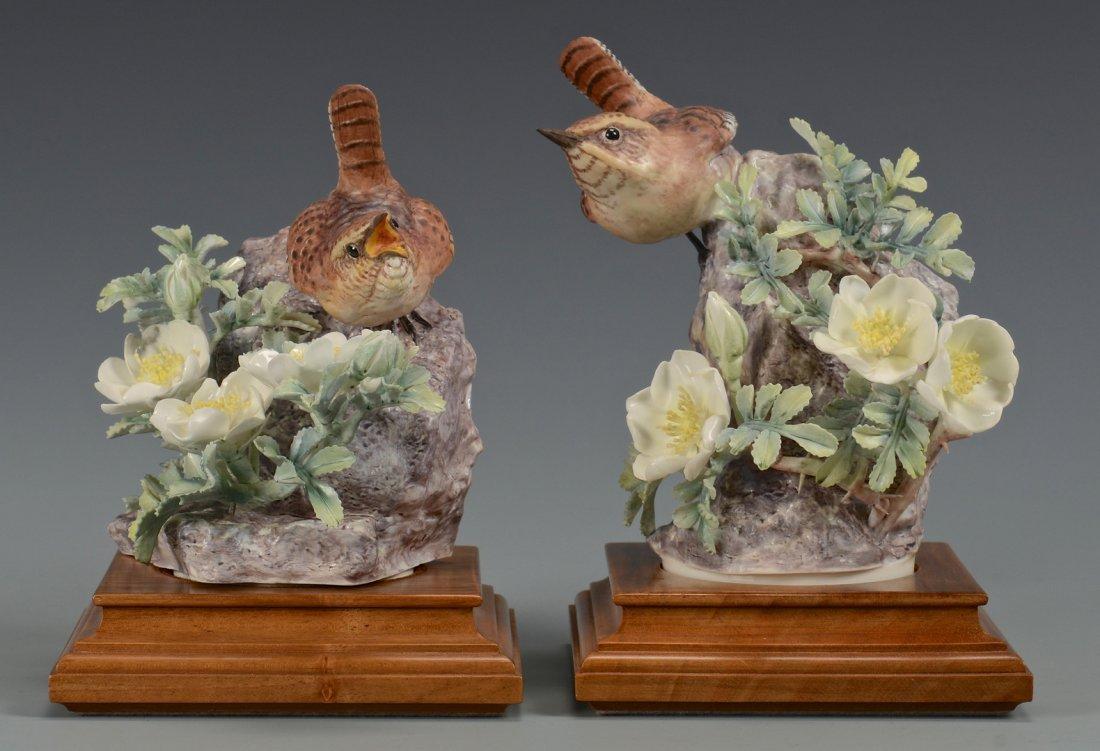 Pr Dorothy Doughty birds, Wren & Burnet Rose - 2