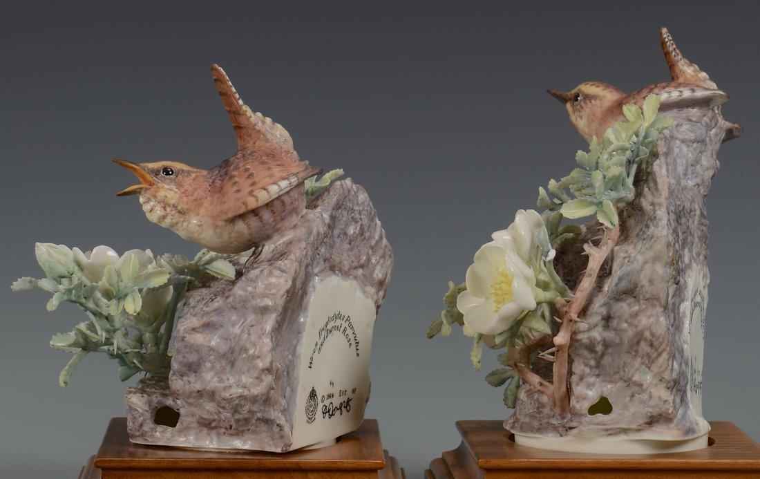 Pr Dorothy Doughty birds, Wren & Burnet Rose - 3