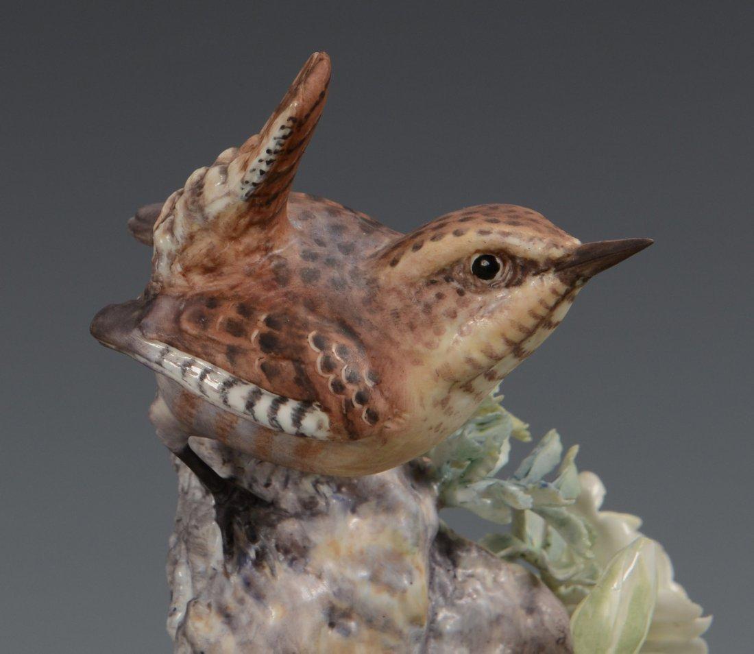 Pr Dorothy Doughty birds, Wren & Burnet Rose - 6