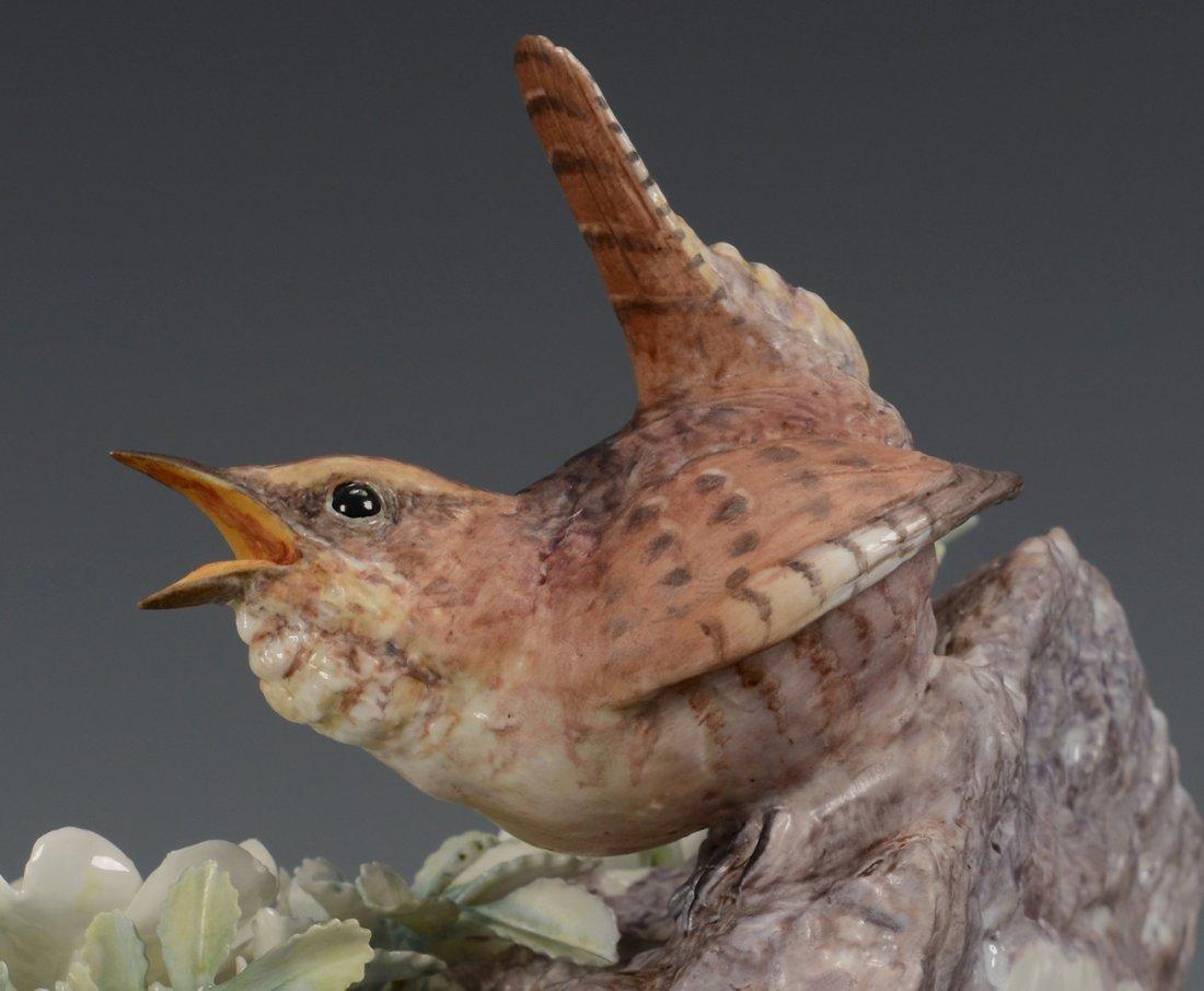 Pr Dorothy Doughty birds, Wren & Burnet Rose - 8