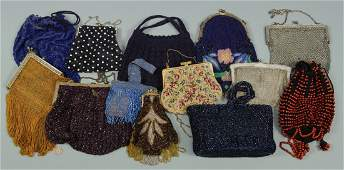 Grouping of 13 Ladies Vintage Purses