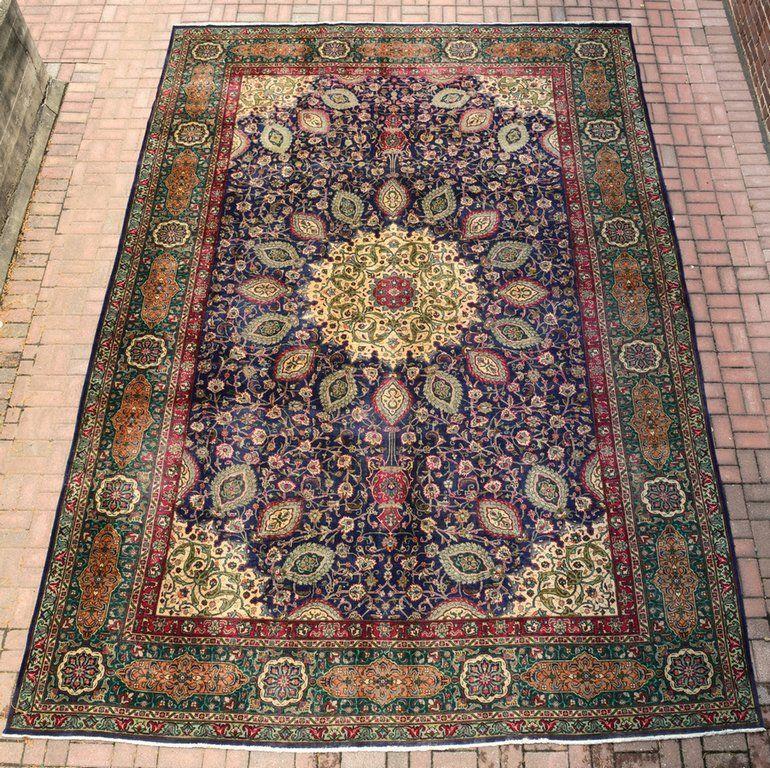 Persian Tabriz Carpet, 11 x 16