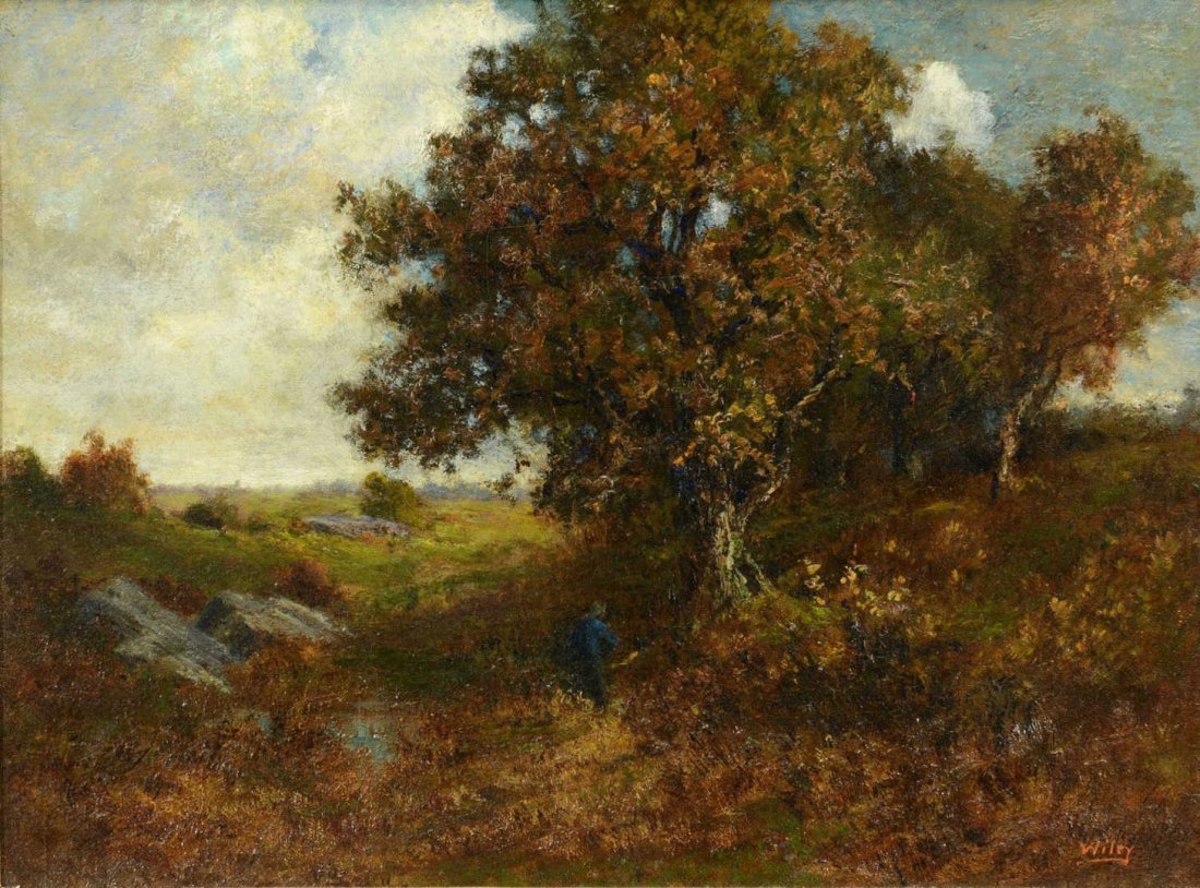 Catherine Wiley, O/C Landscape w/ figure