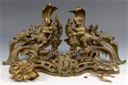 Pair Louis XVI Style Gilt Bronze Chenet Set  Other