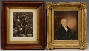 Portrait of an Older Gentleman, Oil on Paper