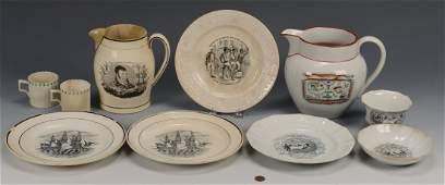 Early English Ceramic Items, 9 pcs.