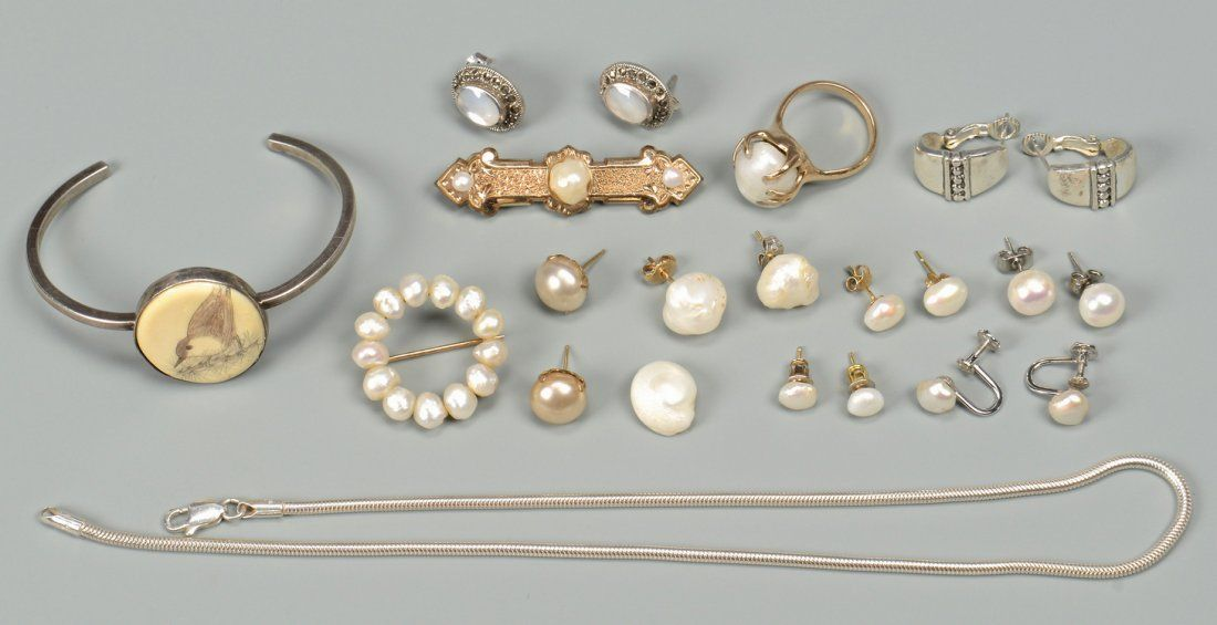 14k TN Pearl & Sterling silver jewelry