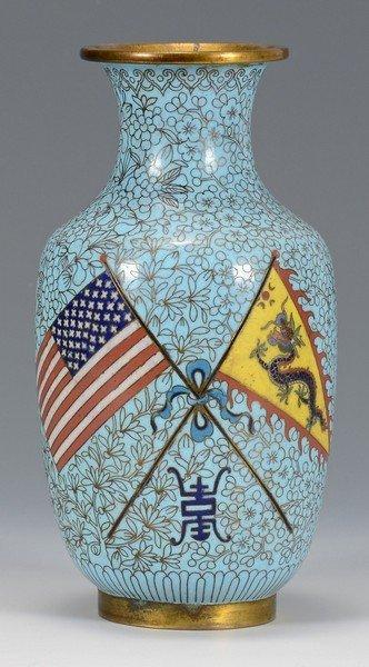 Great White Fleet Chinese Cloisonne Vase