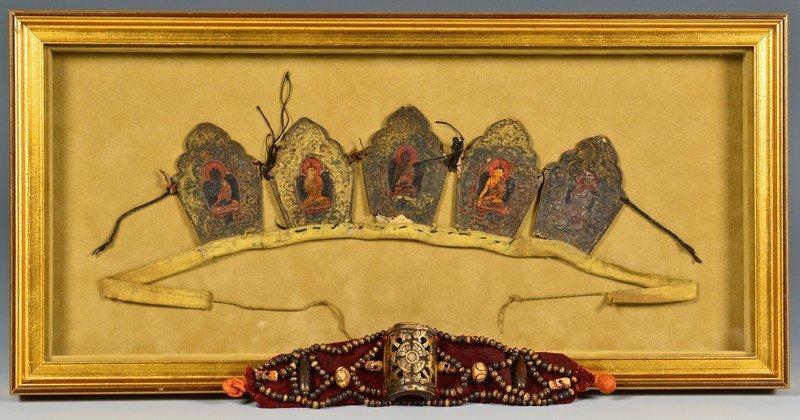 Tibetan Buddhist Crown Ringga & Tibetan Bracelet