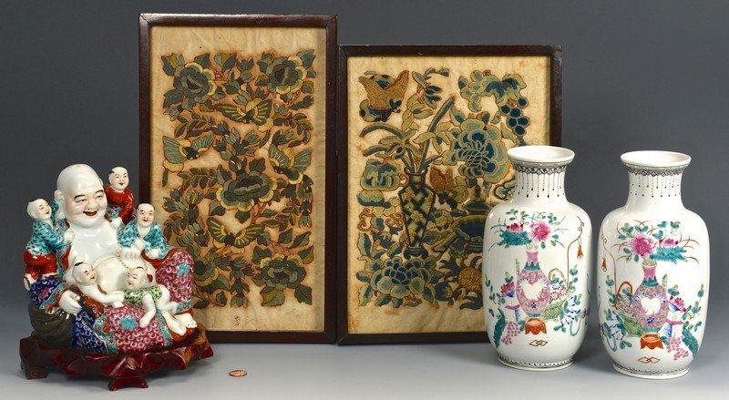 Chinese Republic Porcelains and Textiles