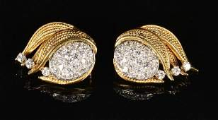 18K, Platinum, Diamond Earrings