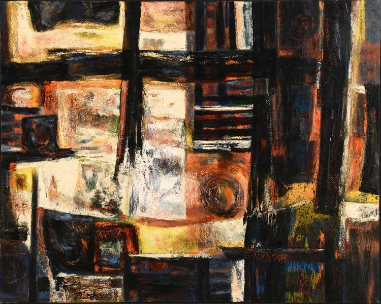 C. Kermit Ewing Abstract Oil on Canvas