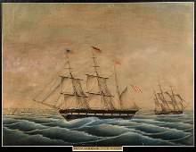 Ship watercolor, Lohann. Friedrich.