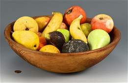 20 pcs Stone Fruit w Wooden Bowl