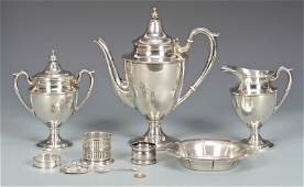 3 Sterling Silver Tea Items  More