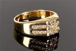 14k Diamond Gents Ring