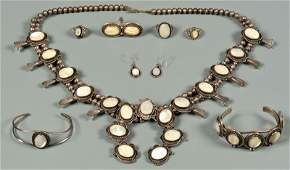 Group Of Navajo Mother of Pearl Jewelry, 8 items