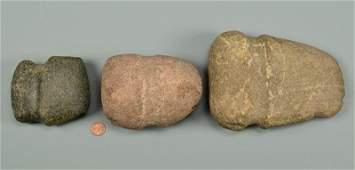 Three 3/4 Native American Axes