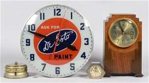 Grouping of 4 Vintage American Clocks
