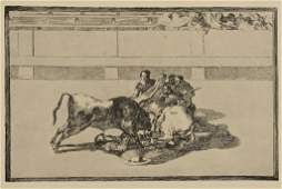 Goya Etching 26 from La Tauromaquia Series