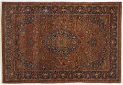 Antique Persian Kashan area rug