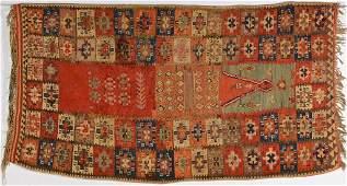 Antique Anatolian Kilim Prayer Rug 19th century