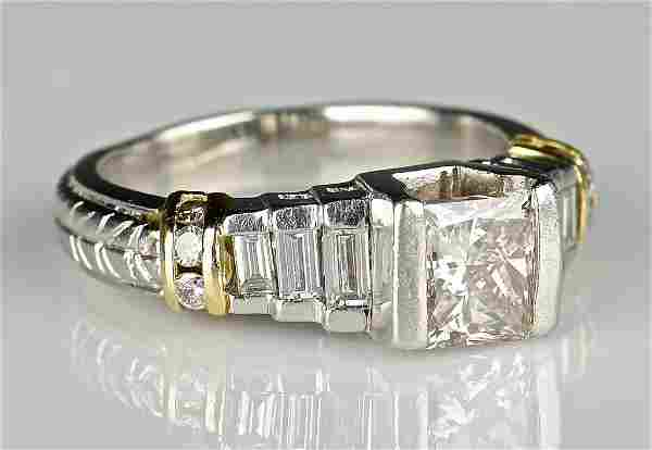 Platinum 18K Princess Cut Diamond Ring