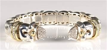 Designer Sterling 18K, Dia Bracelet