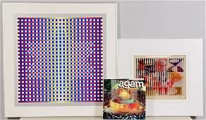 2 Yaacov Agam Serigraphs & Book