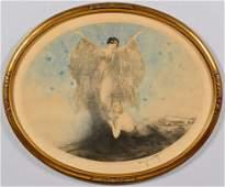 Louis Icart Lithograph, Butterflies