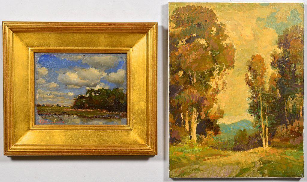 2 G. Stepanyants oil on canvas landscapes