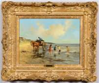 Dorus Arts, O/C, Coastal Scene