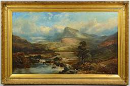 Clarence Roe Oil on Canvas Landscape