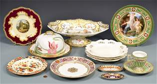 Group of English, French, German Porcelain, 11 total