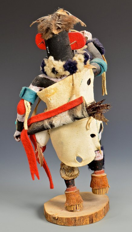 Hopi Left Hand Hunter Kachina Mask & Doll - 10