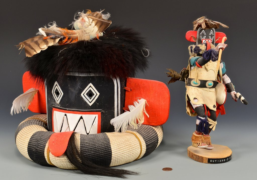 Hopi Left Hand Hunter Kachina Mask & Doll