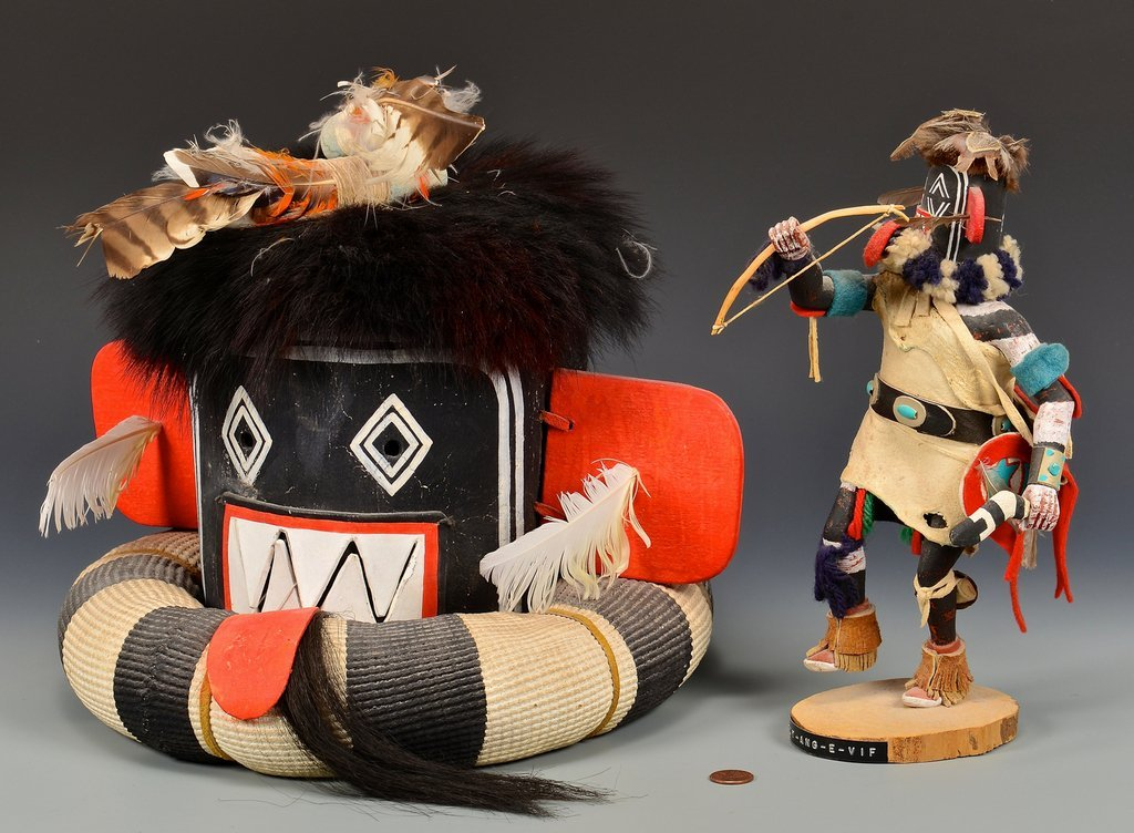 Hopi Left Hand Hunter Kachina Mask & Doll - 2