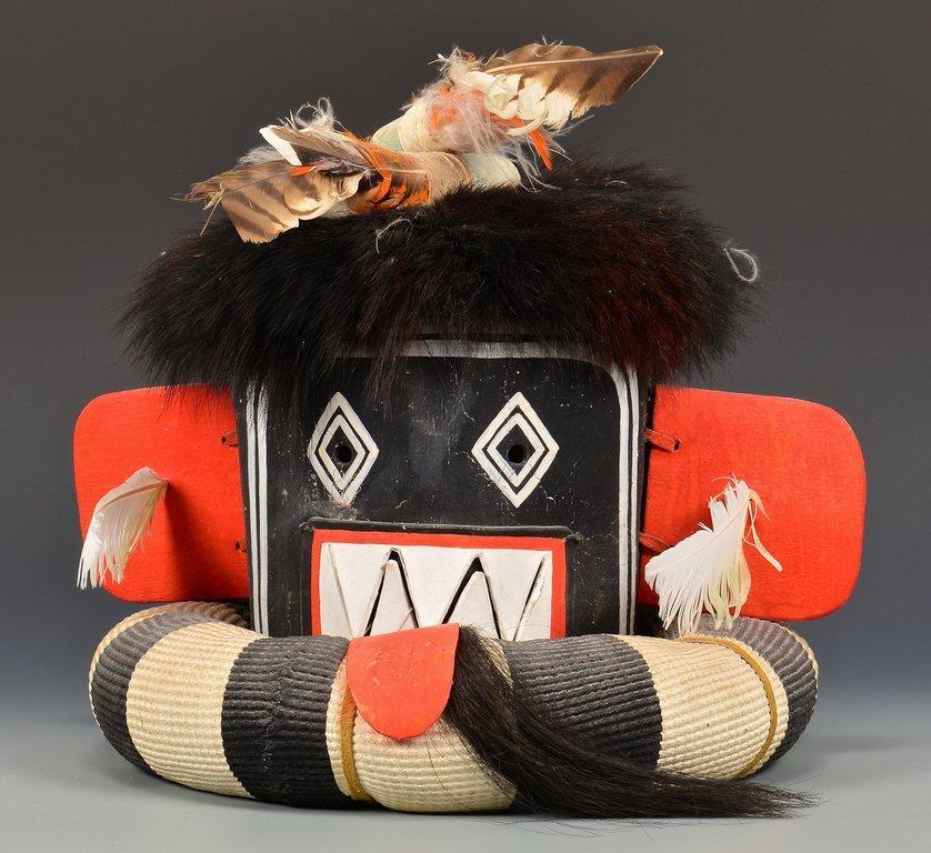 Hopi Left Hand Hunter Kachina Mask & Doll - 3