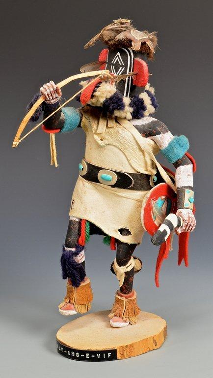 Hopi Left Hand Hunter Kachina Mask & Doll - 8