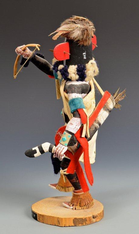 Hopi Left Hand Hunter Kachina Mask & Doll - 9