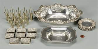 Sterling Matchboxes, Corn Cob holders, and other
