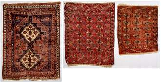 Group of 3 Antique Tribal Area Rugs