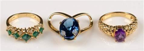 Emerald Amethyst Topaz Jewelry
