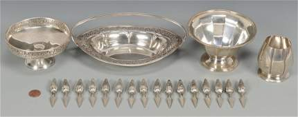 Sterling Candy dishes, Corn Holders