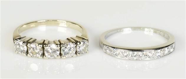 Two 14K Diamond Bands
