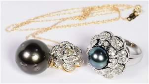 Tahitian Pearl and Diamond Jewelry