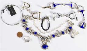 Group Sterling Equestrian Jewelry Items